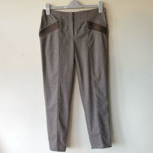 Etcetera lt brown sewn in pleat pant size 6